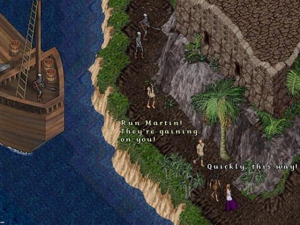 Старый форт Terathan. Большие суда из игры были убраны позже.