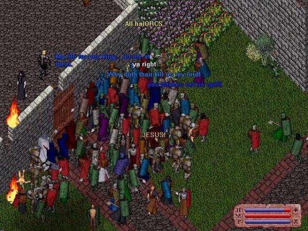 """20 мая 1996. Последний день альфа-теста. Blackthorn и British натравили на толку кучу орков. Один игрок тогда спросил: """"Почему вы убиваете нас мой лорд?"""". Так он положил традицию убийства массы игроков, которая будет в официальных игровых ивентах."""